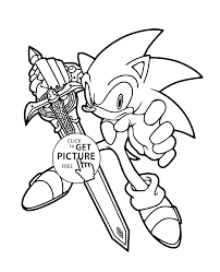 Small Picture Sonic coloring pages for kids printable free coloing 4kidscom