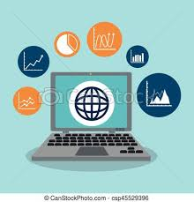 Graph Chart Related Icons Image