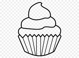 birthday cupcake clip art black and white.  Black Cupcake Birthday Cake Muffin Drawing Clip Art  Line With Art Black And White C