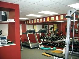basement gym ideas. Exercise Room Decorating Ideas  Basement Gym With Red Wall