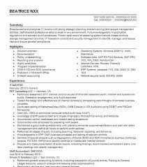 It Auditor Resume Sample Technical Resumes Livecareer