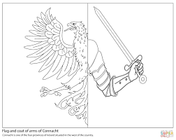 Flag Of Connacht Coloring Pages Ireland 1