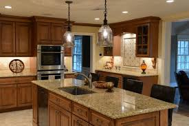 beautiful maple with a stain glaze finish italian granite porcelain tile back traditional