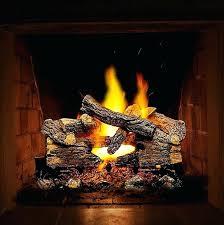 gas log fireplace lava rocks embers ventless