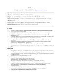 Respiratory Therapist Resume Examples Examples Of Resumes