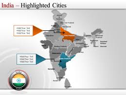 Free Interactive Maps For Powerpoint Interactive Map India India Presentation Slides Editable India Map