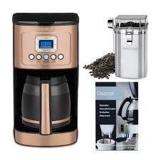 Cuisinart introduces an awesome coffee maker that occupies a greater part of everyone's kitchen. Cuisinart Dcc 3200cp Perfectemp 14 Cup Programmable Coffeemaker Copper Bundle Walmart Com Walmart Com