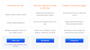 these free job openings on indeed com don t get enough impressions displays alike glassdoor as the sponsored paid job ads are preferred more