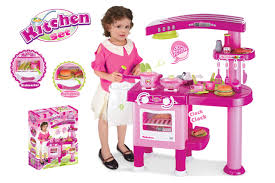 Toy Kitchen With Lights And Sound Kids Childrens Kitchen Toy Play Set With Lights Sound