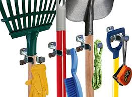 heavy duty shovel holder wall mount and garden tool hangers for garage wall broom clips rake organizer 10 pack hardware included garage wall hangers d89