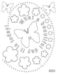 Small Picture Butterfly and Flower Coloring Page