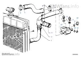 cooling system thermostat water hoses bmw 5 e12 518 m10 europe cooling system thermostat water hoses