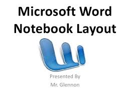 Word 2008 Notebook Layout