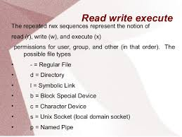 Read write permissions linux