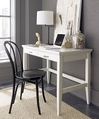 white lacquer office desk decoist make something similar for my bedroom nice simple