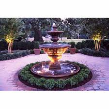 outdoor large formal garden fountain with basin