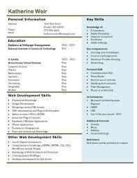 Mysql And Web Developer And Resume Simple Mysql Resume