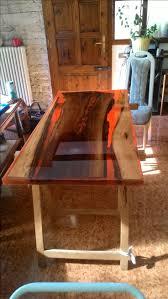 Serie LAva tavolo noce resina carbone; <b>table</b> Volcano lava <b>flow</b> ...