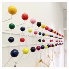 Coloured Ball Coat Rack Home Design White Eames Hang It All With Multicoloured Balls 10