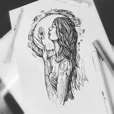 тату эскиз в стиле графика цветок студия тату и пирсинга Evo