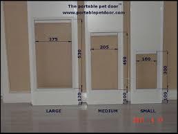 doggy door sizes