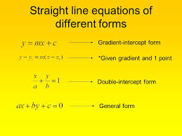 8 straight line equations of diffe forms grant intercept form