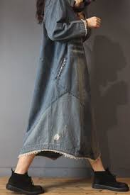 <b>Korean</b> Style Patchwork <b>Denim Dress</b> Designer Ripped <b>Dress in</b> ...