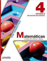 Perfect Matemáticas, 4 ESO. Opción B: José . . . [et Al. ] Colera Jiménez:  9788467802511: Amazon.com: Books