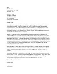 Sample Cover Letter For Electrical Engineering Internship