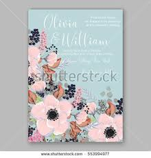 wedding book cover template anemone wedding invitation card template floral bridal wreath