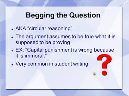 argument and logic important terms claim also assertion or as we 17 post