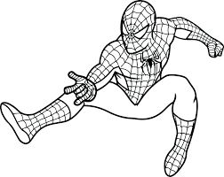 Spiderman Coloring Pages Printables Batman And Pictures Free