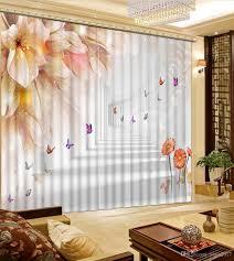 Großhandel Anpassen Blumen Schmetterling Fenster Vorhänge Hotel Home