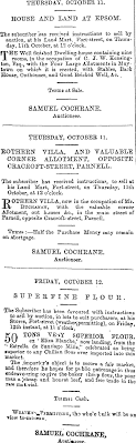 Papers Past   Newspapers   New Zealand Herald   10 October 1866   Page 3  Advertisements Column 1