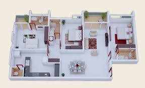 romantic 3 bedroom house plan indian style 25 more 3d floor plans