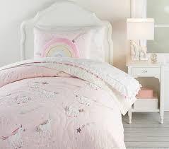 rainbow unicorn kids comforter set