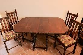 Esstisch Gateleg Tisch Und 4 Stühle England Aparello