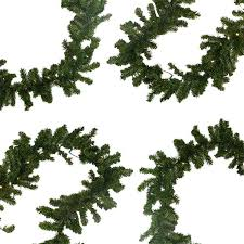 Battery Operated Lighted Garland Northlight 9 Ft Pre Lit Battery Operated Pine Christmas