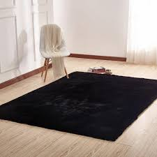 8 x 10 large faux fur black area rug chinchilla rc willey furniture