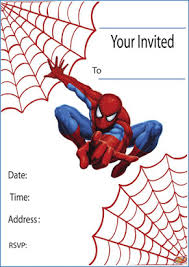 Gather all the children to i gave them a card with a picture of each item on it and they can use that to remember what to find. Free Printable Spiderman Birthday Card