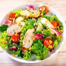 garden salad with chicken. Interesting With Crisp Tossed Garden Salad With Sliced Chicken Breast H