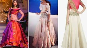 Designer Crop Top And Skirt Full Top And Long Skirt Designs Latest Crop Top Skirt Dress Designs 2017