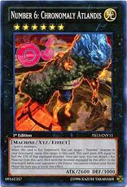 Maybe you would like to learn more about one of these? Amazon Com Yu Gi Oh Number 6 Chronomaly Atlandis Ys13 Env11 Super Starter Power Up Pack 1st Edition Common Toys Games