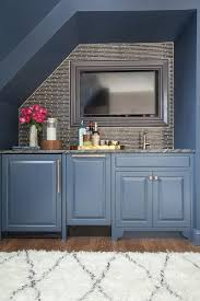 office wet bar. home office with blue alcove bar wet t