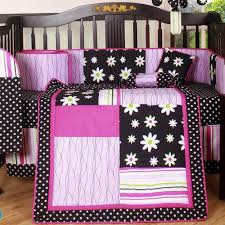 inspirational navy and pink crib bedding good for modern house