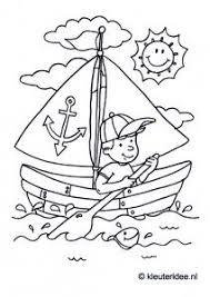 Zeilboot Kleurplaat Voor Kleuters Thema Zeeland Kleuterideenl