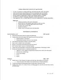 Animal Care Worker Sample Resume Pin By Brittany Mariner On Resumes Pinterest 24
