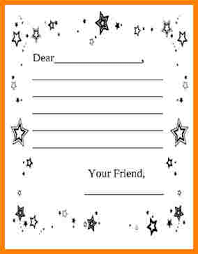writing a letter template for elementary students free printable friendly letter template for kids