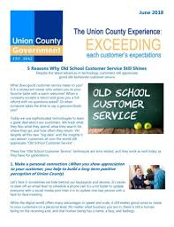 What Does Good Customer Service Mean To You 082018 Customer Service Newsletter