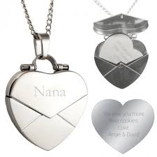 custom engraved locket gifts secret engraved message heart envelope locket personalized heart shaped lockets